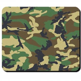 US Army Woodland Camouflage Tarnmuster - Mauspad Mousepad #9868