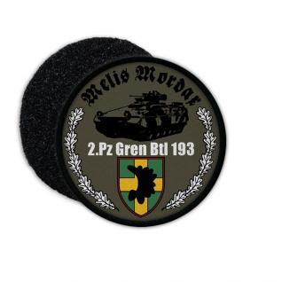 Patch 2 PzGrenBtl 193 Panzergrenadier Kompanie Bundeswehr SPz Aufnäher #23603