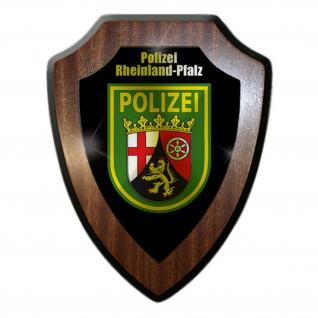 Wappenschild / Wandschild - Polizei Rheinland-Pfalz RLP Landespolizei Abzeichen Andenken #18778