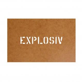 Explosiv Schablone Bundeswehr Ölkarton Lackierschablone 2, 5x15cm #15141