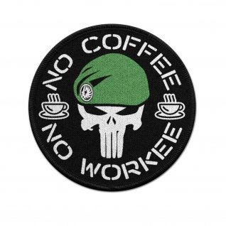 Patch Thomas Gast No Coffee - No Workee Kaffee Soldat Fremdenlegion #36874