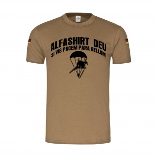 BW Tropen Alfashirt si vis pacem para bellum Airborne Fallschirmjäger #31416