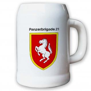 Krug / Bierkrug 0, 5l -Bierkrug Panzerbrigade 21 PzBrig Brigade Panzer #13011