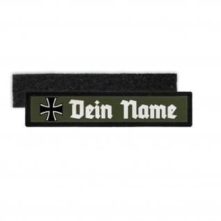 Namenschild Patch BW Kreuz Personalisiert Dein Name Klett Reservist #33505