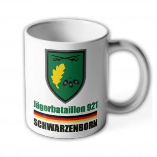 Tasse JgBtl 921 Schwarzenborn Jägerbataillon Bundeswehr Abzeichen Wappen #36330