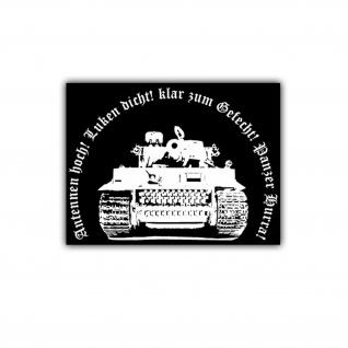 Aufkleber/Sticker Tiger Panzer Hurra Legende Panzerkampfwagen 7x5cm A1652