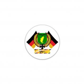 Aufkleber/Sticker JgRgt 1 Jägerregiment BW Luftbwegliche Infanterie 7x7cm A2373