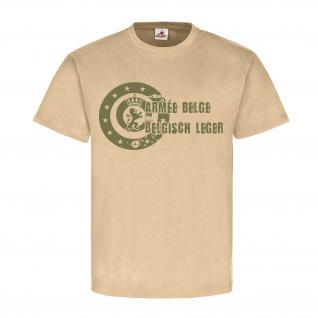 Armée belge Belgisch leger Belgische Streitkräfte Armee Logo T Shirt #18567