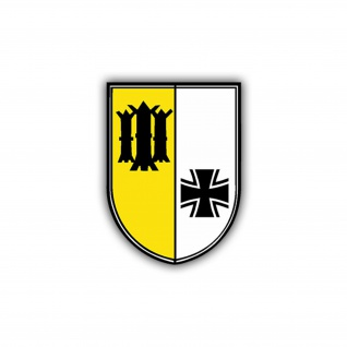 Aufkleber/Sticker Panzerbataillon 524 Wappen Abzeichen PzBtl BW 7x5cm A778