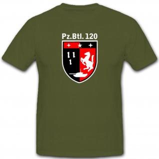 Bundeswehr 5tes Pzbtl 120 Panzerbataillon Wappen Abzeichen - T Shirt #3483