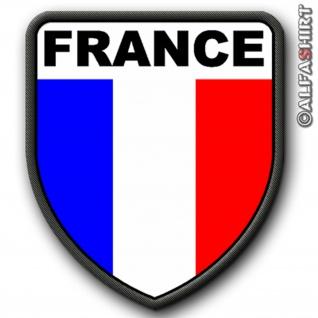 Patch / Aufnäher - France Frankreich Flagge Fahne Heimat #6071