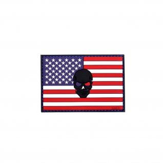 US Patch Vereinigten Staaten Totenkopf USA Amerika Army Navy Amee Militär Airsoft 8x5, 5cm #20300