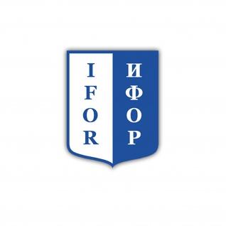 Aufkleber/Sticker IFOR Truppen Militär ISAF Wappen Abzeichen 7x6cm A1752