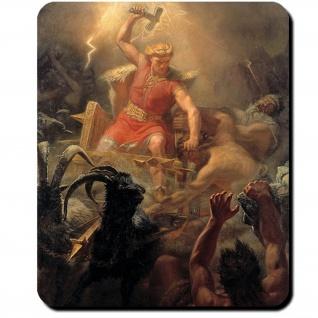 Thor Eskil Winge 1872 Odinssohn Mjölnir Asenfürst Donar Gott Mauspad #16093