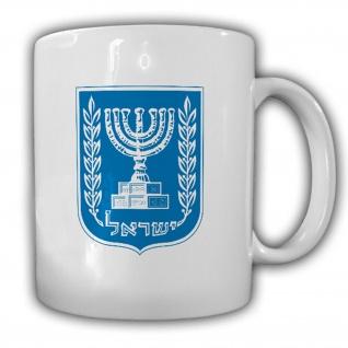 Israel Wappen Emblem Jerusalem Kaffee Becher #13518