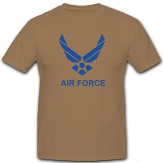 US Air Force Amerika Luftwaffe Militär Wappen Abzeichen Emblem Usaf - T Shirt #2209