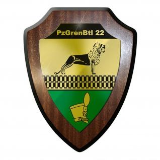 Wappenschild PzGrenBtl 22 Panzer Grenadier Bataillon Grenadiere Bundeswehr #9359