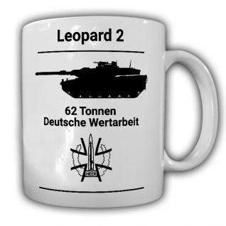 WDD Leopard 2 Panzer Kampfpanzer BW Kameradschaft Becher Tasse #26159