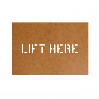 Lift here Schablone Ölkarton Lackierschablone 2, 5x10cm # 15178
