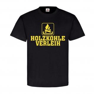 Holzkohle Verleih Humor Kaminholz Brennstoff heizen Spaß verleihen Fun #22642