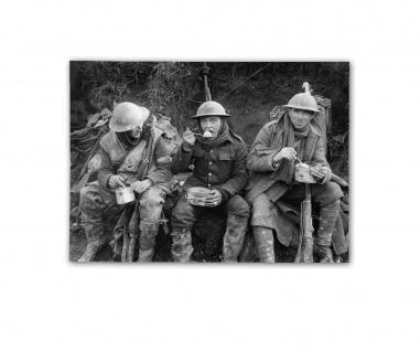 Poster Schlacht an der Somme Britische Soldaten Plakat ab 30x22cm #31113