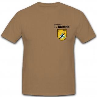 FlaRakBtl 21 1te Batterie Bundeswehr Flugabwehrraketenbataillon - T Shirt #12659