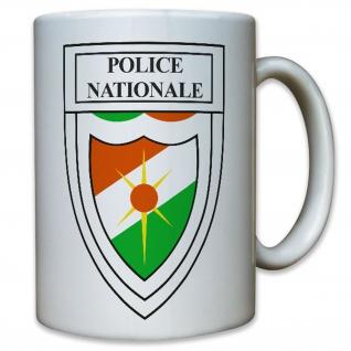 Niger Police Nationale Polizei Westafrika Wappen Abzeichen - Tasse #10373 T