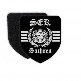 Patch SEK Sachsen Spezialeinsatzkommando Logo Polizei Auto Sitz Symbol #23700