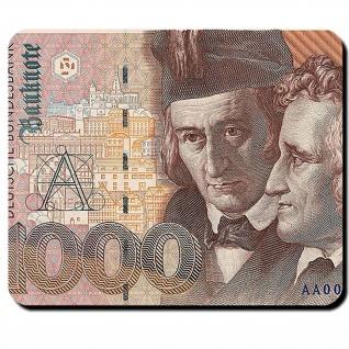 1000 Mark Deutsche Mark Geldschein Banknote Währung Brüder Grimm Mauspad #16349