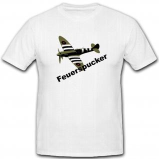 Hitzkopf Flieger Flugzeug Air Force Usa Luftwaffe Supermarine - T Shirt #4503