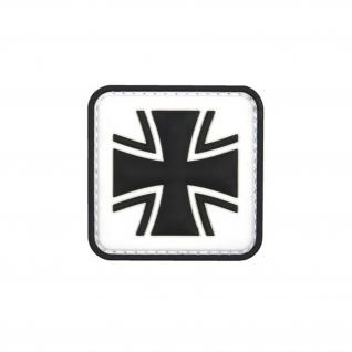 Weiss Balkenkreuz Patch 3D Rubber Bundeswehr Abzeichen Aufnäher Emblem 5cm#23045