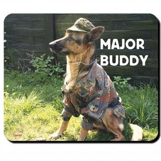 Hund Major Buddy Bundeswehr Deutscher Schäferhund DSH - Mauspad #14289