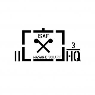 Taktische Zeichen ABC ISAF HQ Masar-e Scharif Afghanistan Einsatz 28x14cm #A4568