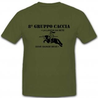 8°Gruppo Caccia Italien Wk Wappen Abzeichen Italia- T Shirt #2676