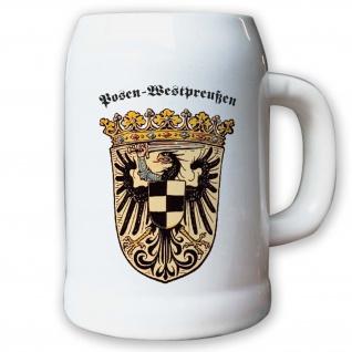 Krug / Bierkrug 0, 5l - preußische Provinz Posen-Westpreußen Weimarer #9461