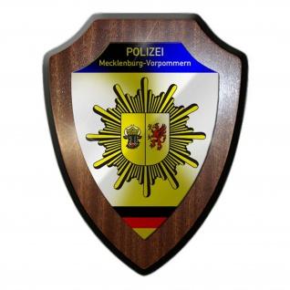 Wappenschild Polizei Mecklenburg-Vorpommern Wappen Abzeichen Schwerin #23076