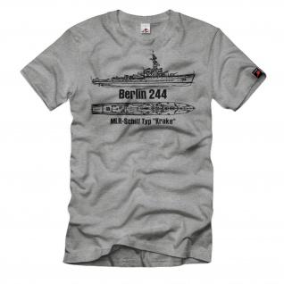 Berlin 244 MLR-Schiff Typ Krake NVA DDR Volksmarine Boot T-Shirt#32652