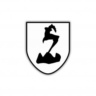 Aufkleber/Sticker 188. GebDiv Wappen Abzeichen Emblemj Gebigstruppe 7x6cm A1269