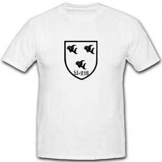 U-218 Unterseeboot U-Boot Marine Militär Wappen Abzeichen Emblem - T Shirt #5330