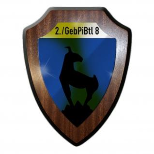 Wappenschild 2 GebirgsPionierBataillon 8 GebJgPiBtl 8 Militär Heer #26440
