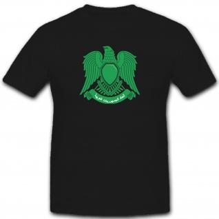 Wappen Libyen Arabisch Abzeichen- T Shirt #1915