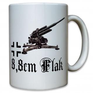 Tasse 8, 8cm Acht-Acht Flugabwehrkanone Deutschland Kaffee Becher#12308