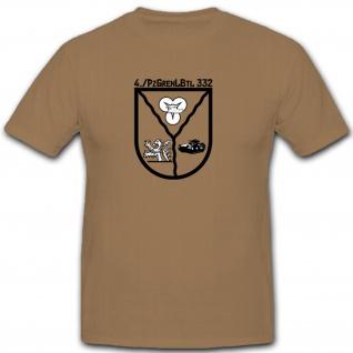 4PzGrenBtl332 Bundeswehr Panzergrenadiere Militär Heer Wappen - T Shirt #7853