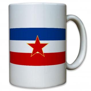 SFR Jugoslawien Sozialistische Föderation Republik Flagge Fahne - Tasse #12917