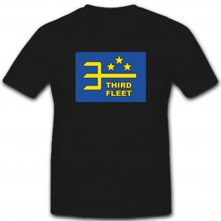 Us Marine 3 Flotte Militär Navy Third Fleet Wappen Abzeichen Emblem - T Shirt #2314