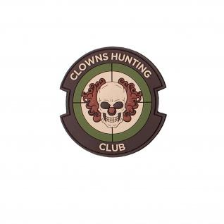 3D Rubber Clowns Hunting Club Patch Clown Horror Chapter Alfashirt 9x9 cm#26975