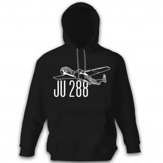 JU 288 Luftwaffe Flugzeug Kampfflugzeug Bomber Deutschland Hoodie #12302