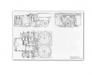 Poster Triebwerk Leo 2 Panzer Bundeswehr Diesel Motor ab 30x21cm #30802