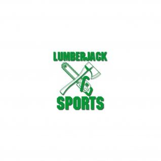 Lumberjack Sports Baumfäller Holzfäller Axt Kettensäge Aufkleber 7x7cm #26582