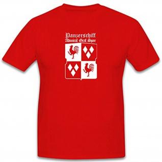 Admiral Graf Spee Schlachtschiff Panzerschiff Deutschland Klasse - T Shirt #6497